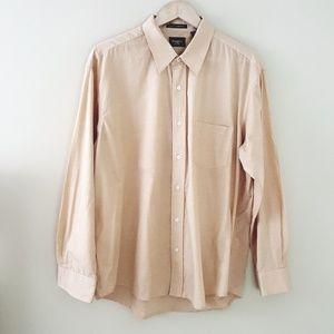 5/$25 // Haggar // Apricot Tan long Sleeve Oxford